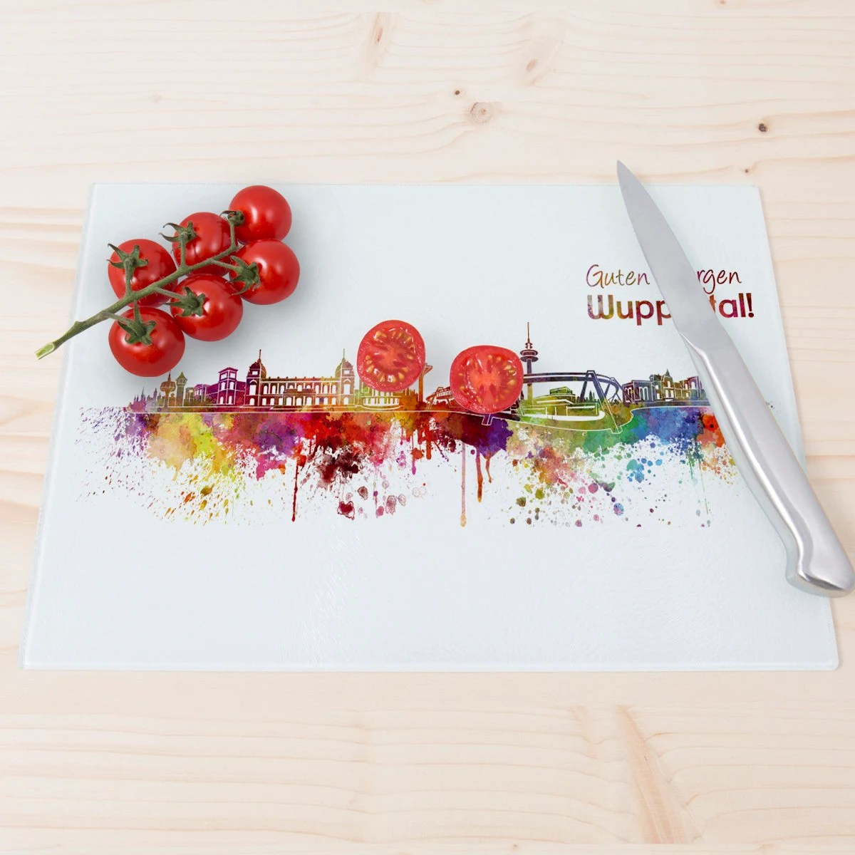 Tomato Wuppertal Wandkings Glass Cutting Board
