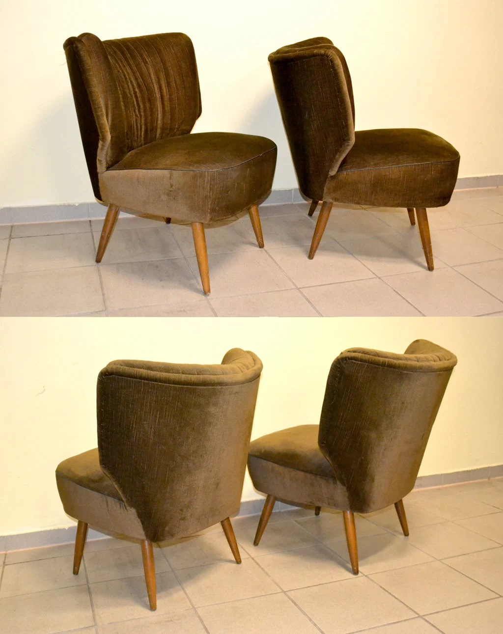 Cocktailsessel 50er 2 Cocktailsessel 50er 60er Vintage Chair Stuhl Armchair 1950 1960 Mid Century Design Rockabilly Clubsessel Lounge Sessel Living Room Club