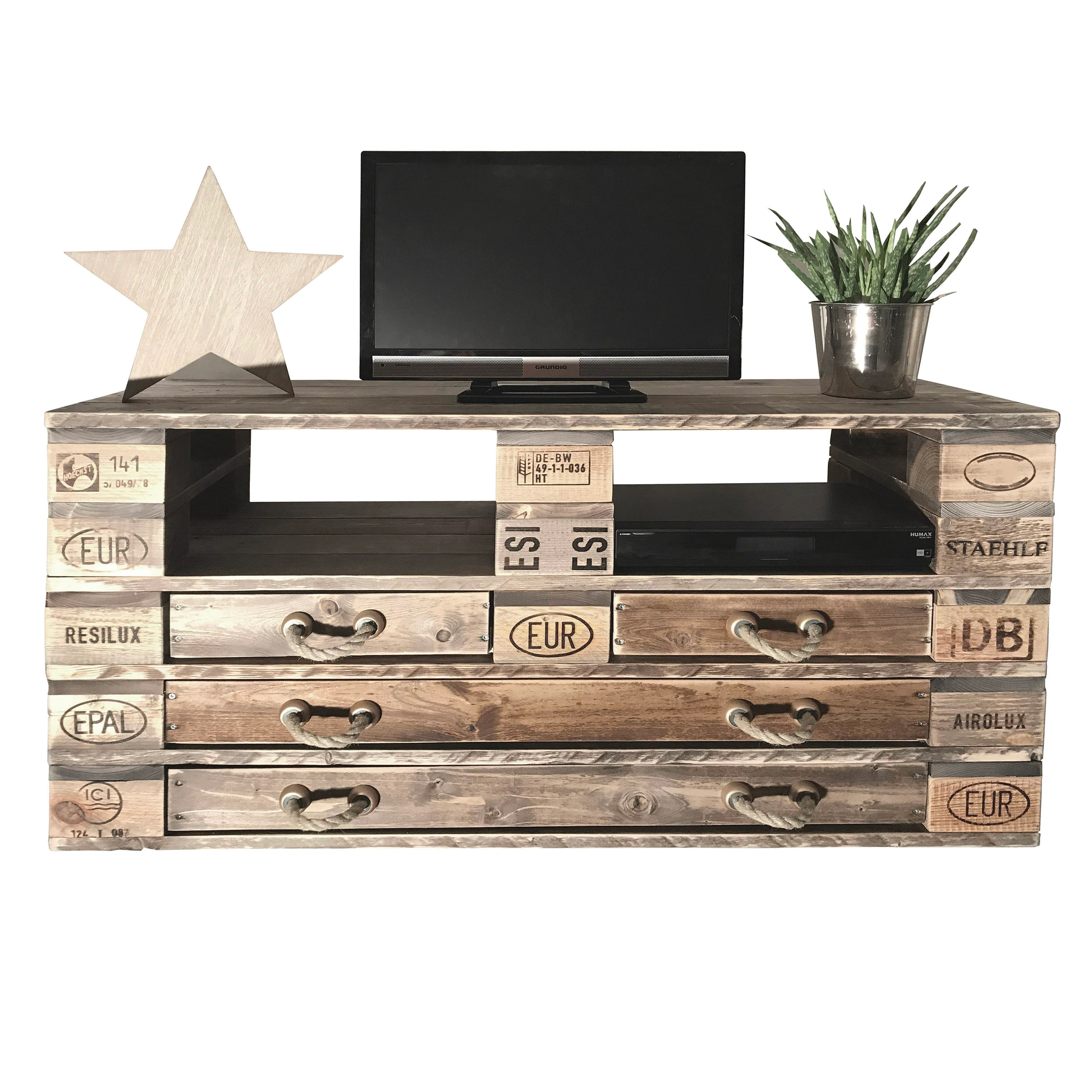 Highboard Tv Palettenmöbel Massive Chest Of Drawers Highboard