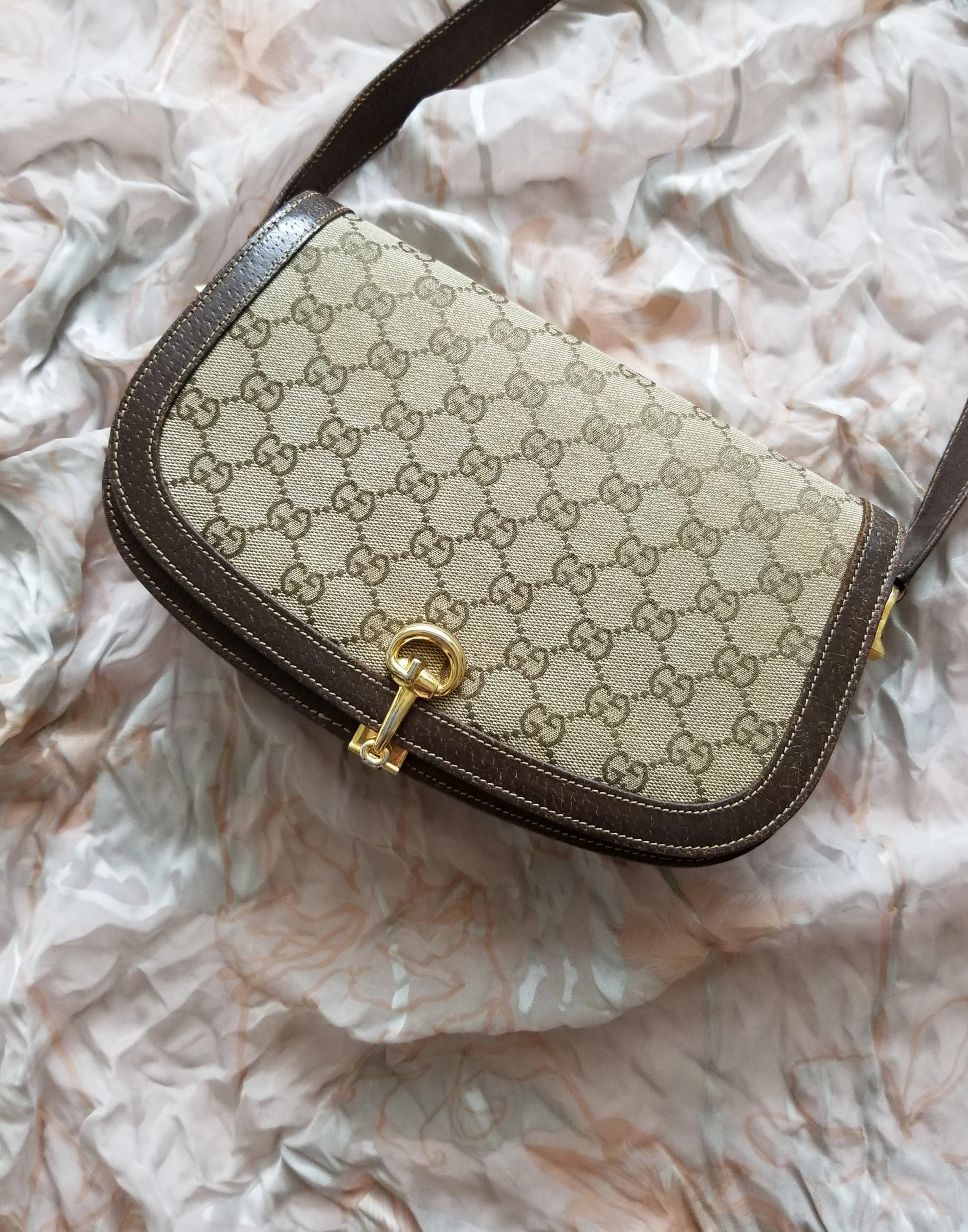 Etsy Vintage Gucci Vintage Gucci Monogram Saddle Bag