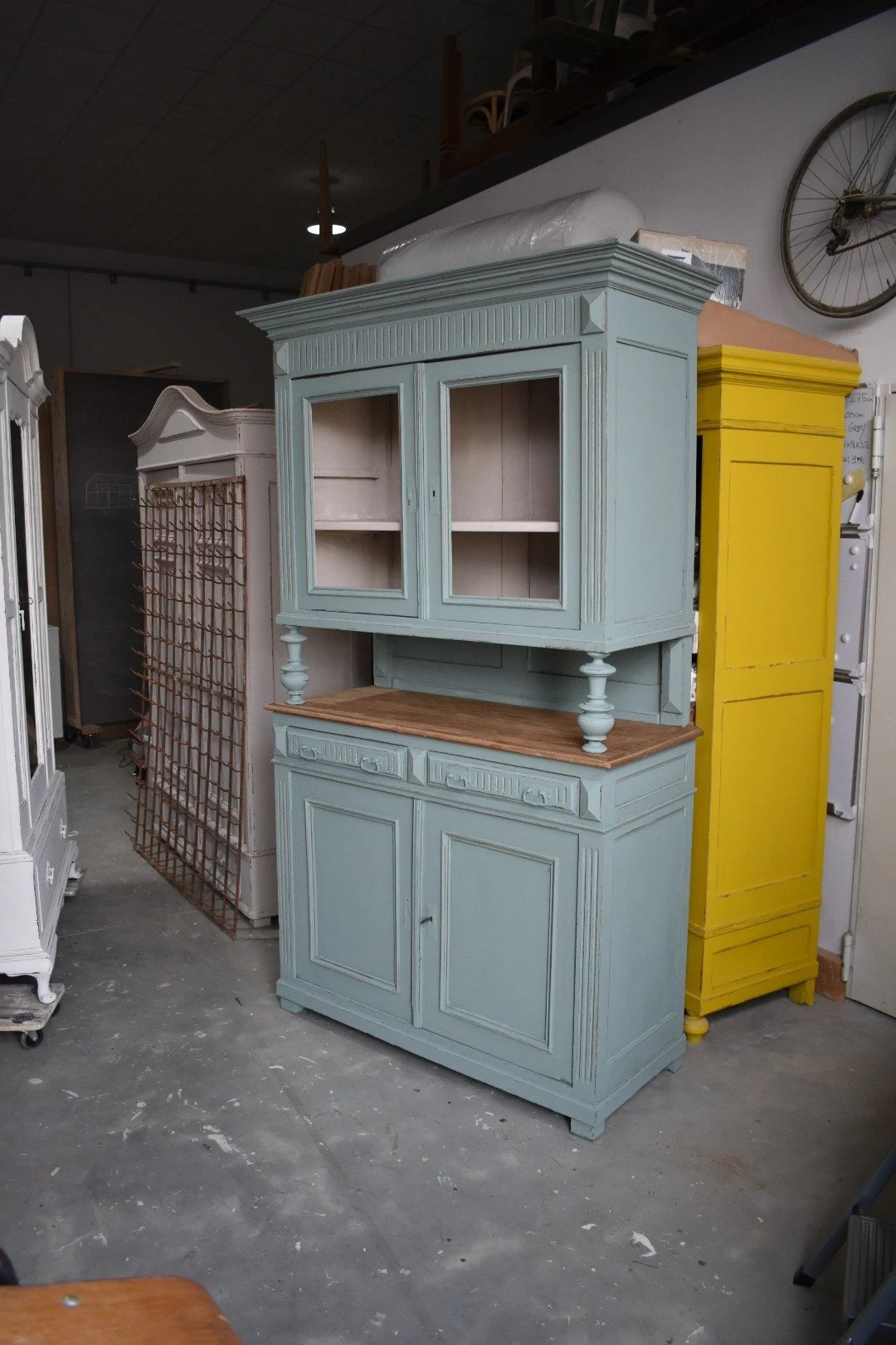 Buffet Kitchen Cabinet Green Antique Kitchen Cabinet Shabby Chic Buffet Cupboard Sideboard