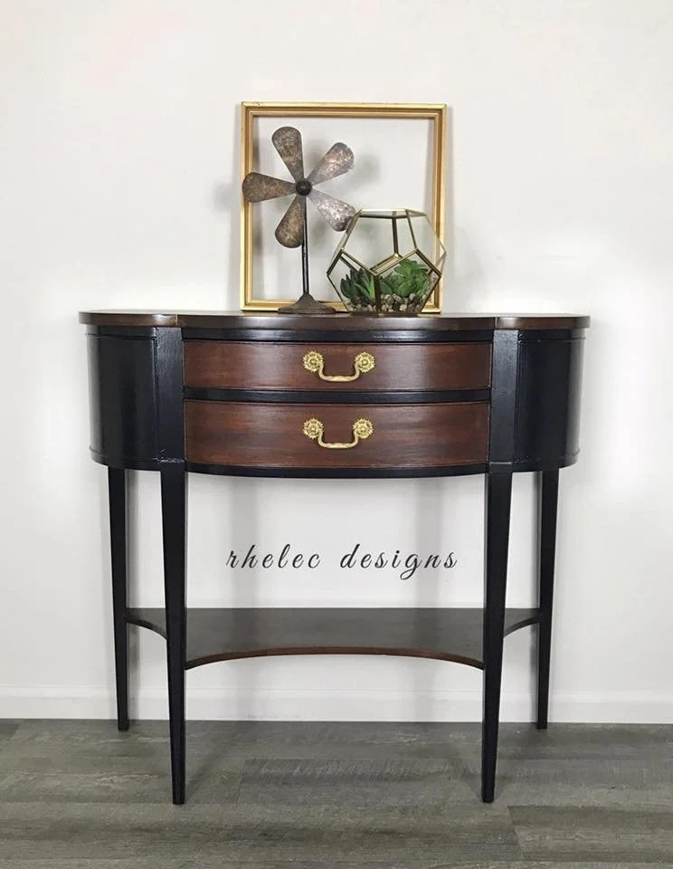 Vintage Hall Table Sold Accent Table Vintage Accent Table Console Table Hall Table End Table Entry Table Painted Accent Table Sofa Table Table With Dr