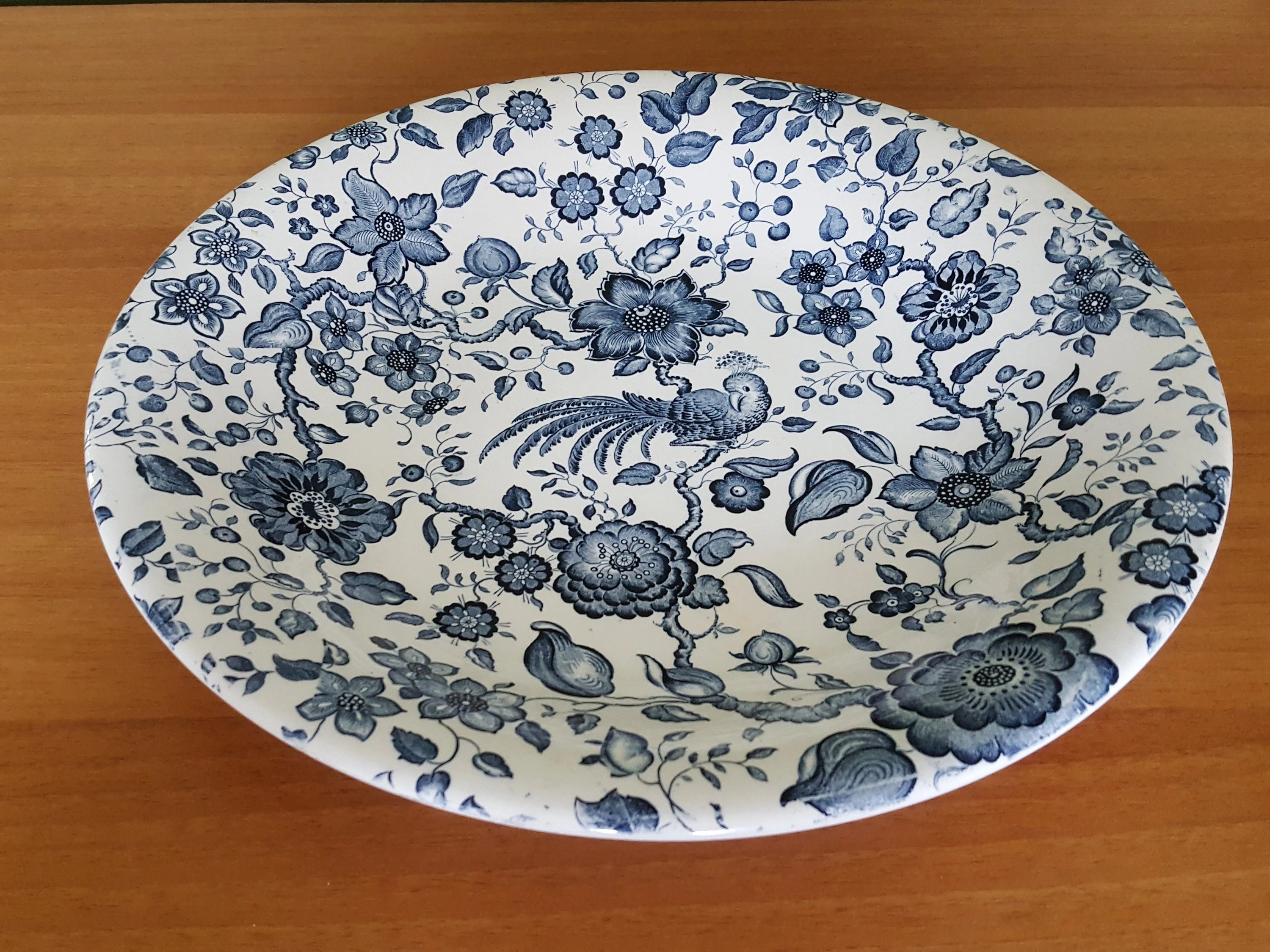 Villeroy Und Boch Saarland Beautiful Vintage Large Serving Plate Paradisio Villeroy Boch Mettlach Germany Blue Charger Floral Pattern Free Shipping Us Can Eur