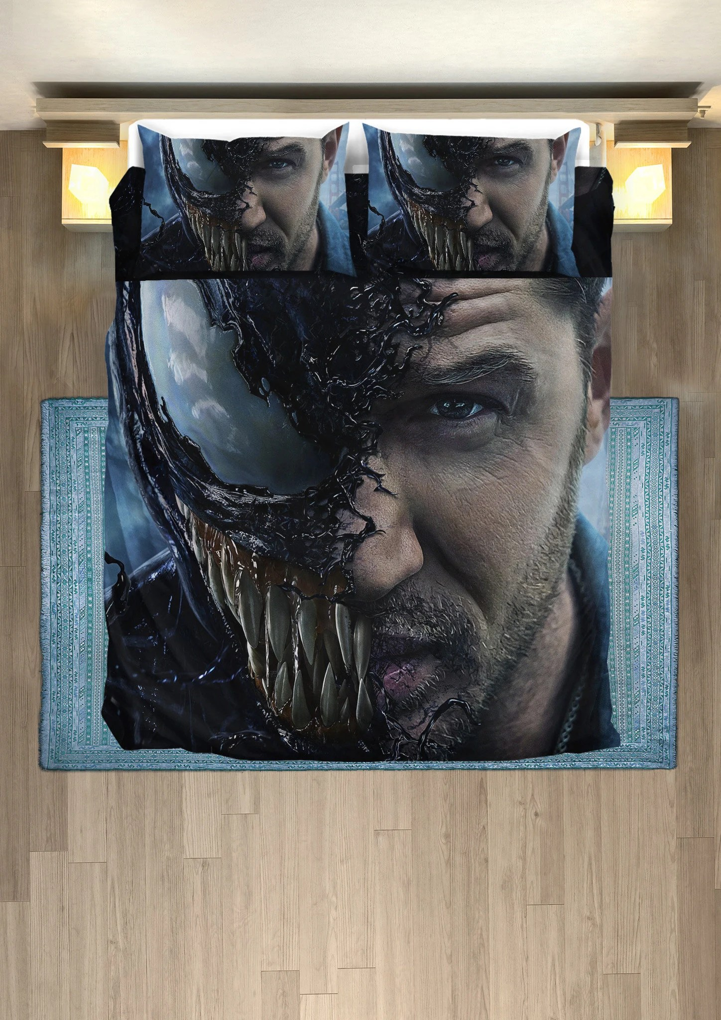 Deadpool Bettwäsche Venom Duvet Venom Bedding Set Twin Queen King Size Bedding Bedroom Duvet Set Plus 2 Pillow Covers Home Decor Room Decor