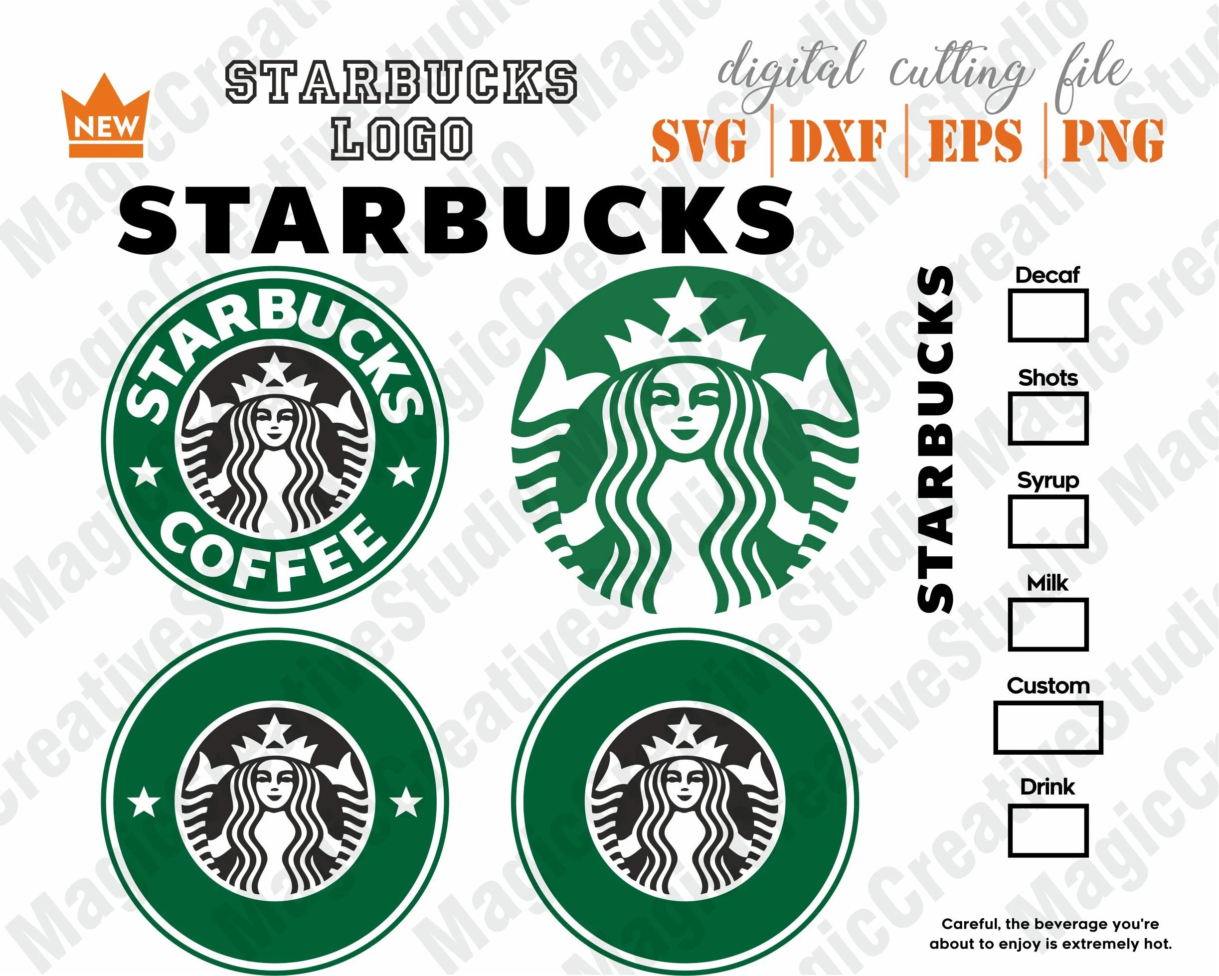 Starbucks Logo SVG Starbucks DXF Starbucks Option Coffee Etsy