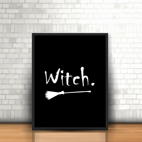 Witch print Halloween poster Witch poster wicked witch Etsy