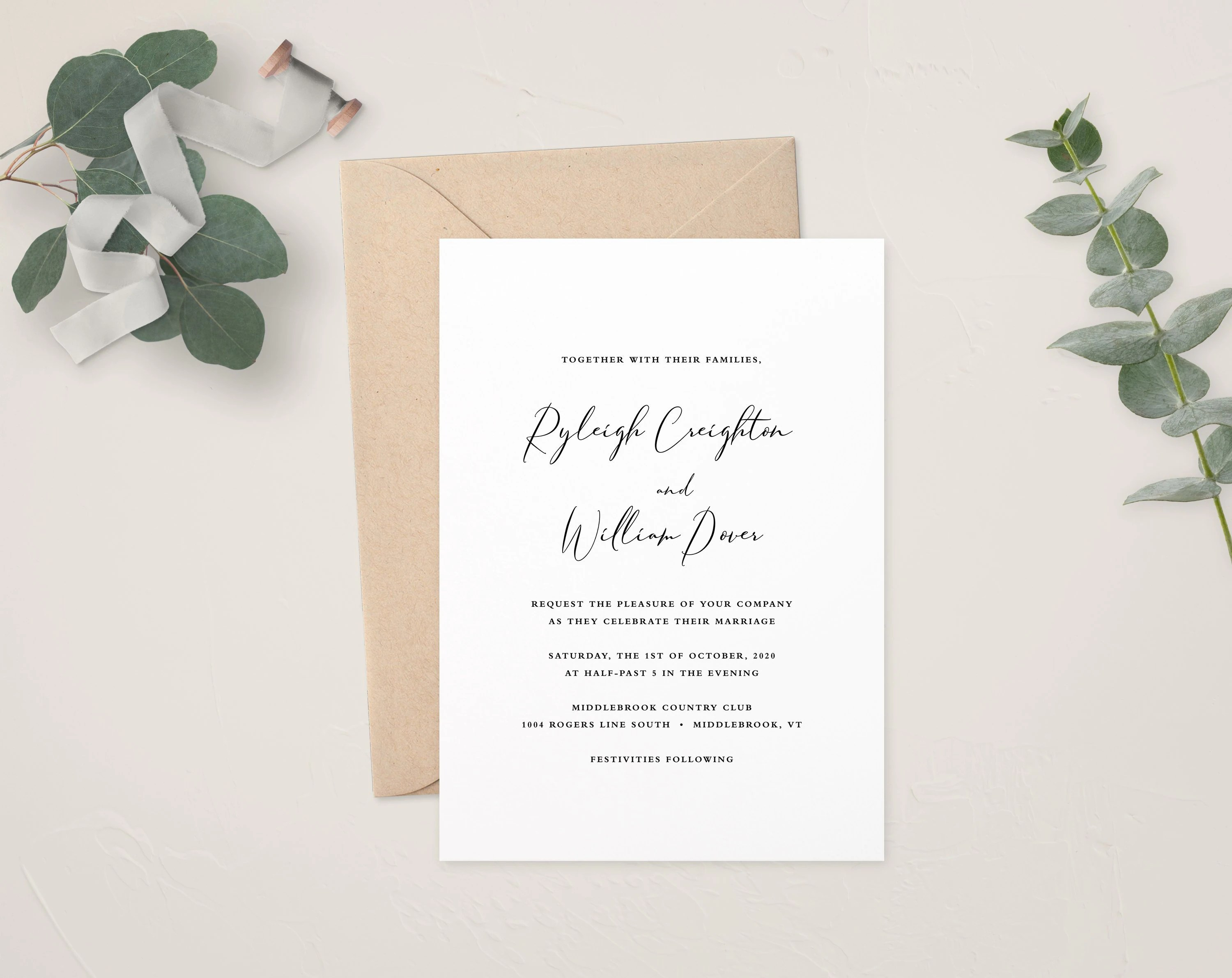 Calligraphy Photo Editor Online Kendra Wedding Invitation Template Calligraphy Wedding Invitations Printable Wedding Invites Romantic Wedding Rustic Wedding Formal