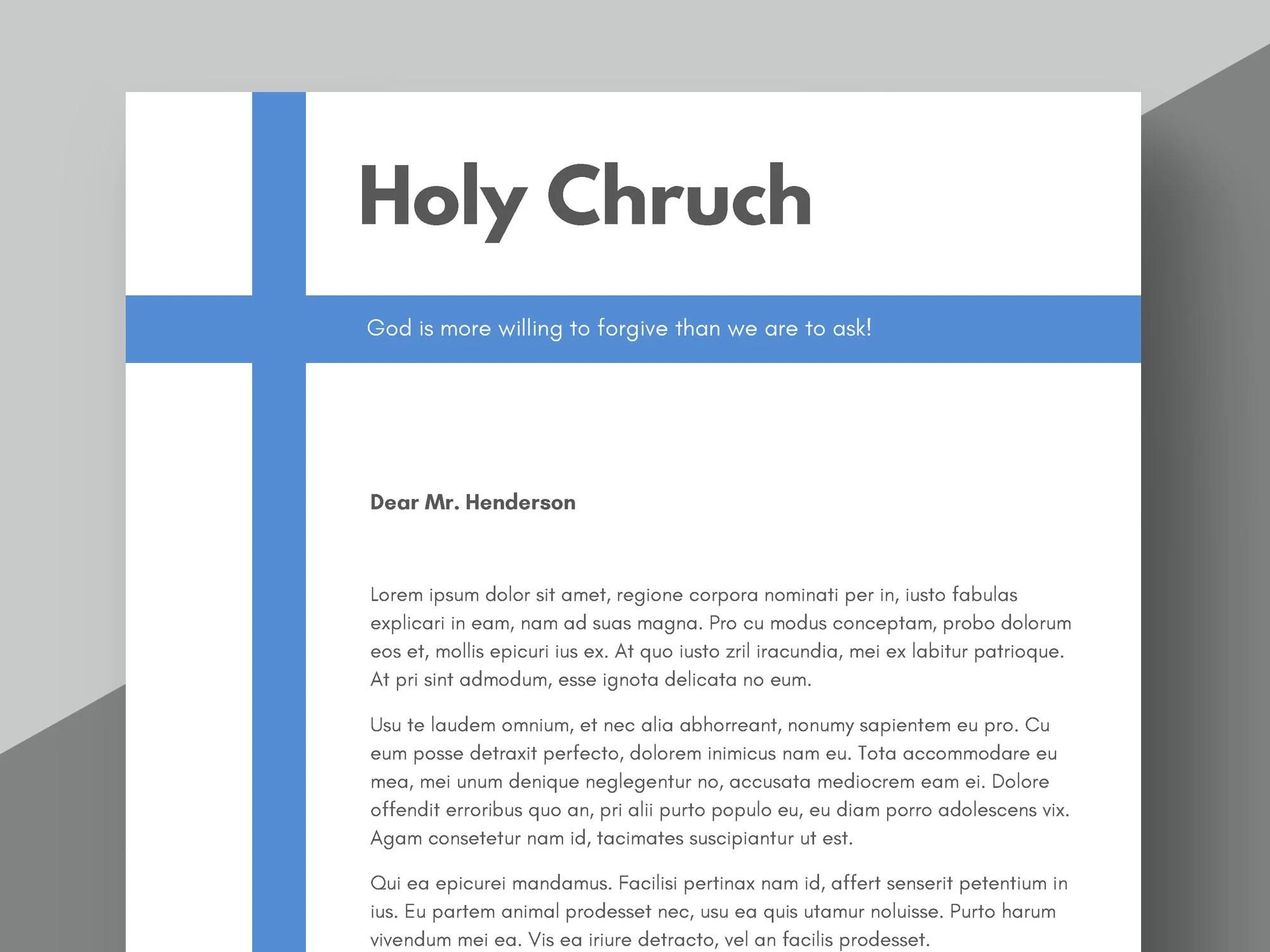 Church Letterhead Template Foundation Letterhead Church Etsy