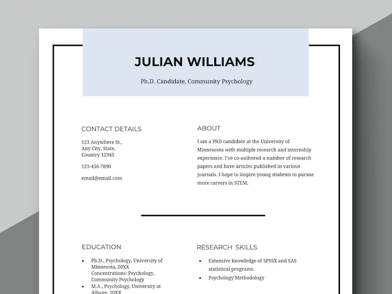 Academic Resume Scholarship Resume Teacher Resume Etsy - Resume For Scholarship