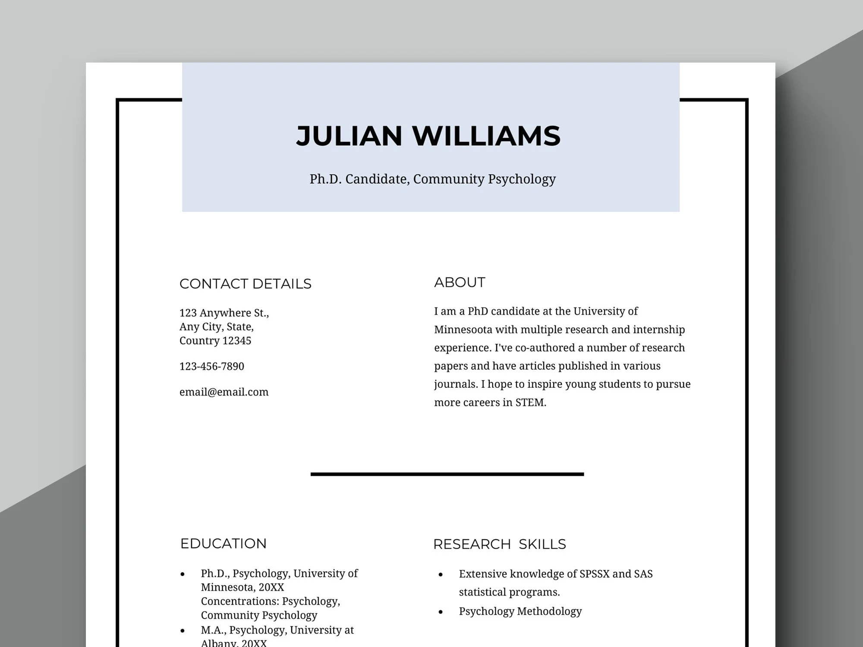 Academic Resume Scholarship Resume Teacher Resume Etsy