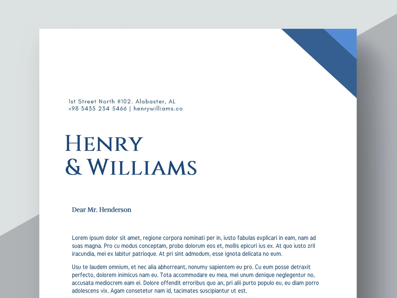 Attorney Letterhead Template Law Firm Word Letterhead Etsy