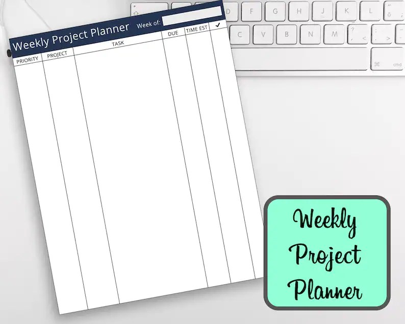Weekly Project Planner Printable To Do List Task Priority Etsy