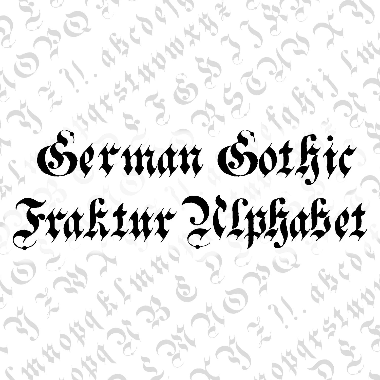 Calligraphy Fonts Victorian Victorian German Gothic Fraktur Ornamental Alphabet Vector Clipart Vintage Ornamental Uppercase Lowercase Letters Calligraphy Svg Png
