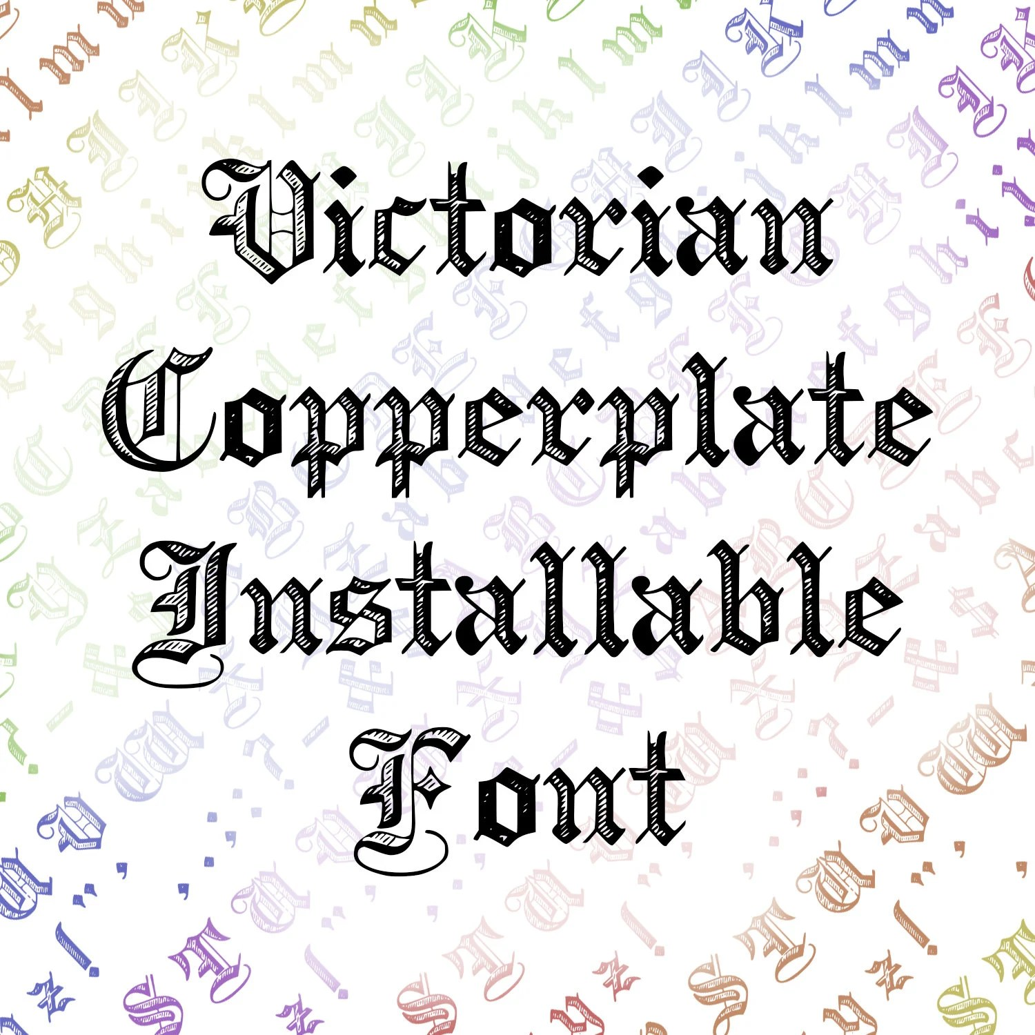 Calligraphy Fonts Victorian Victorian Copperplate Ornamental Penwork Installable Font Vintage Uppercase Lowercase Letters Numbers Punctuation Calligraphy Otf Ttf