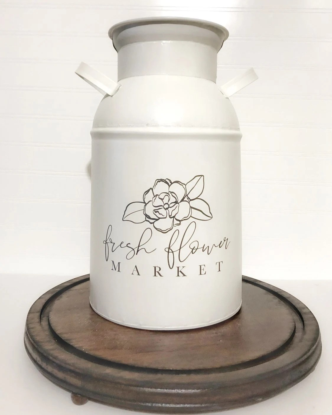 Decorative Milk Urn Milk Can Decor Farmhouse Milk Can Milk Jug Vase Milk Can Vase Rustic Farmhouse Decor 13 Inch Galvanized Metal Milk Can Modern Farmhous