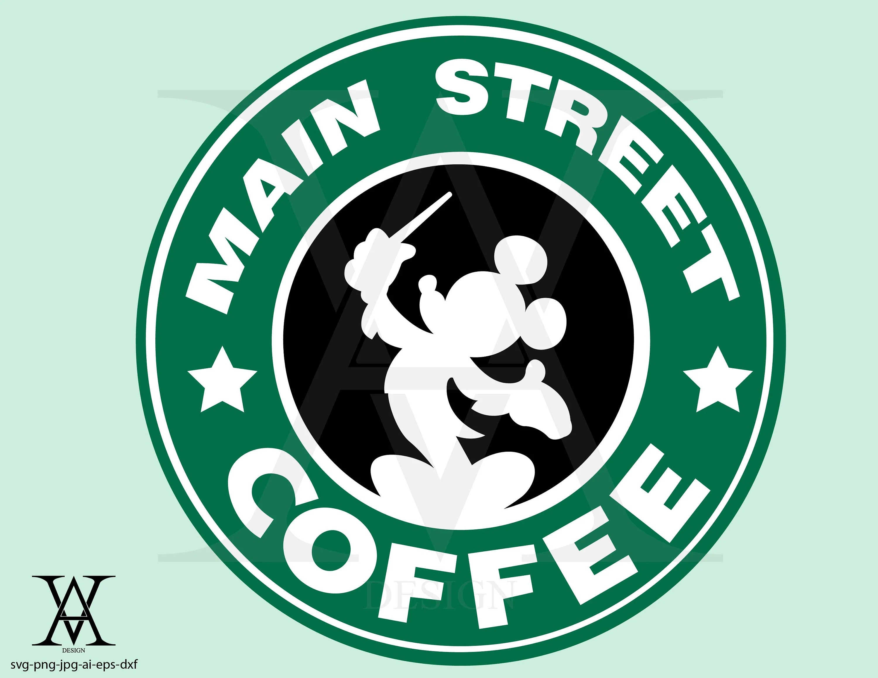 Disney starbucks vector clipart INSTANT DOWNLOAD Etsy