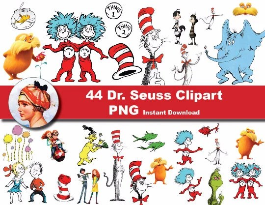 44 x Dr seuss printable Digital Clipart Graphic Instant Etsy