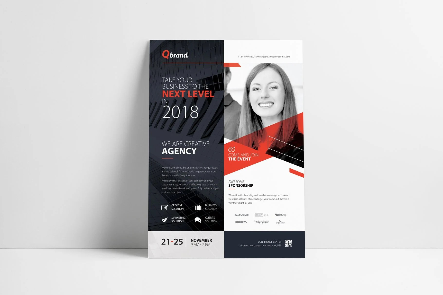 Conference Flyer Event Flyer Poster Flyer Template Real Etsy