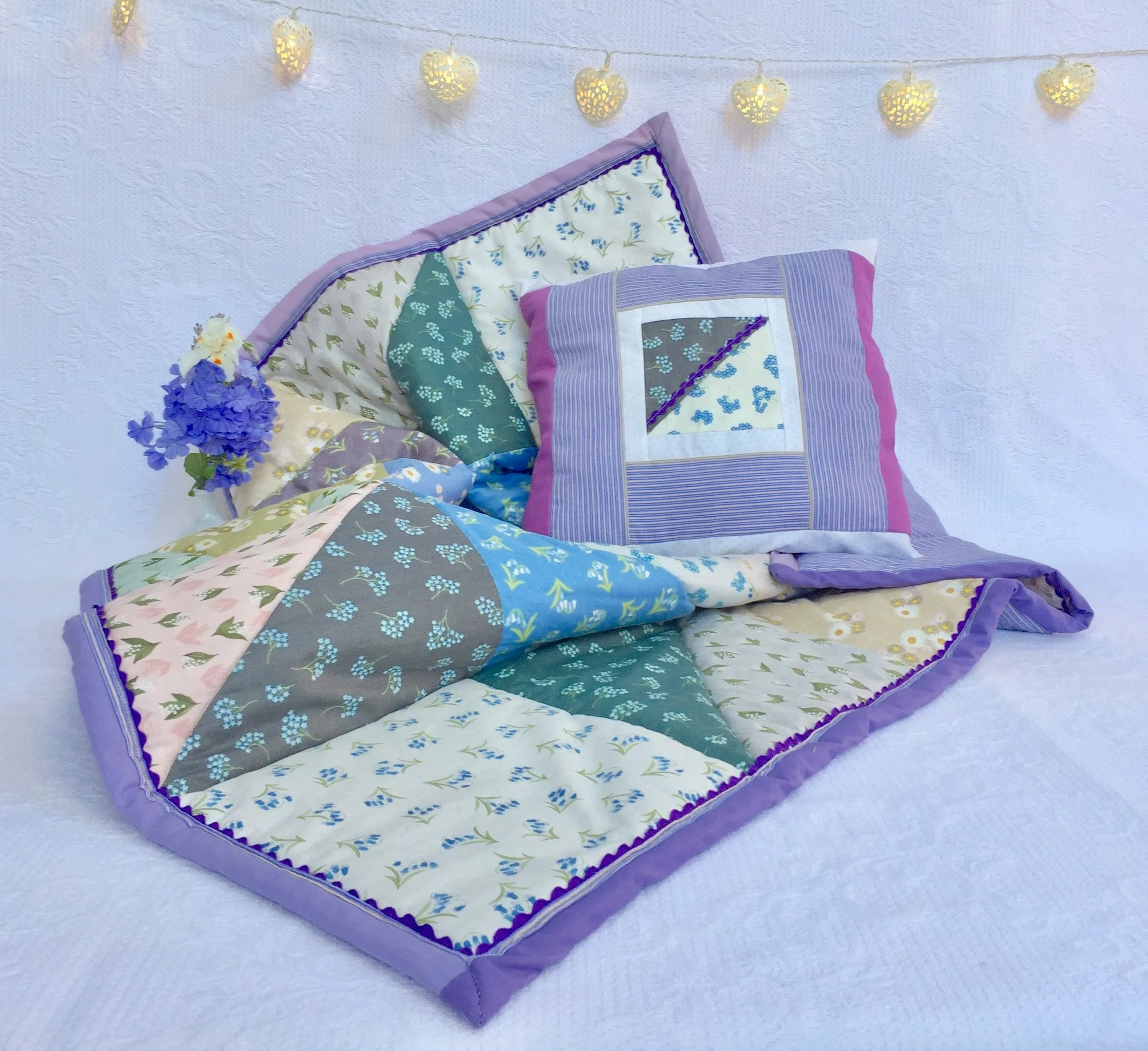 Patchwork Set Baby Baby Patchwork Quilt Set Baby Set Of Wild Flowers Patchwork Quilt