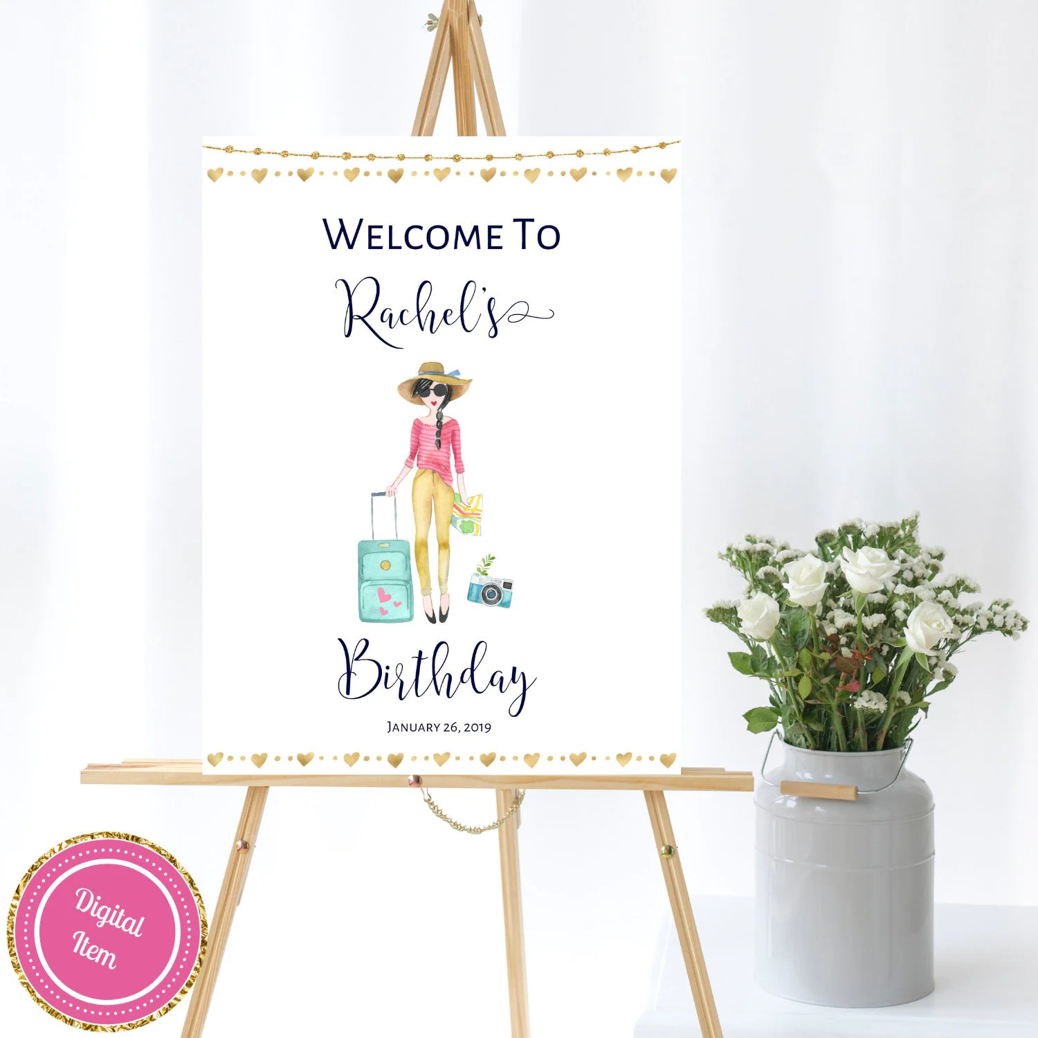 Travel Theme Ideas Travel Theme Birthday Welcome Sign Personalized Adventure Theme Birthday Party Birthday Party Ideas Travel Inspired Party Decor Tt1