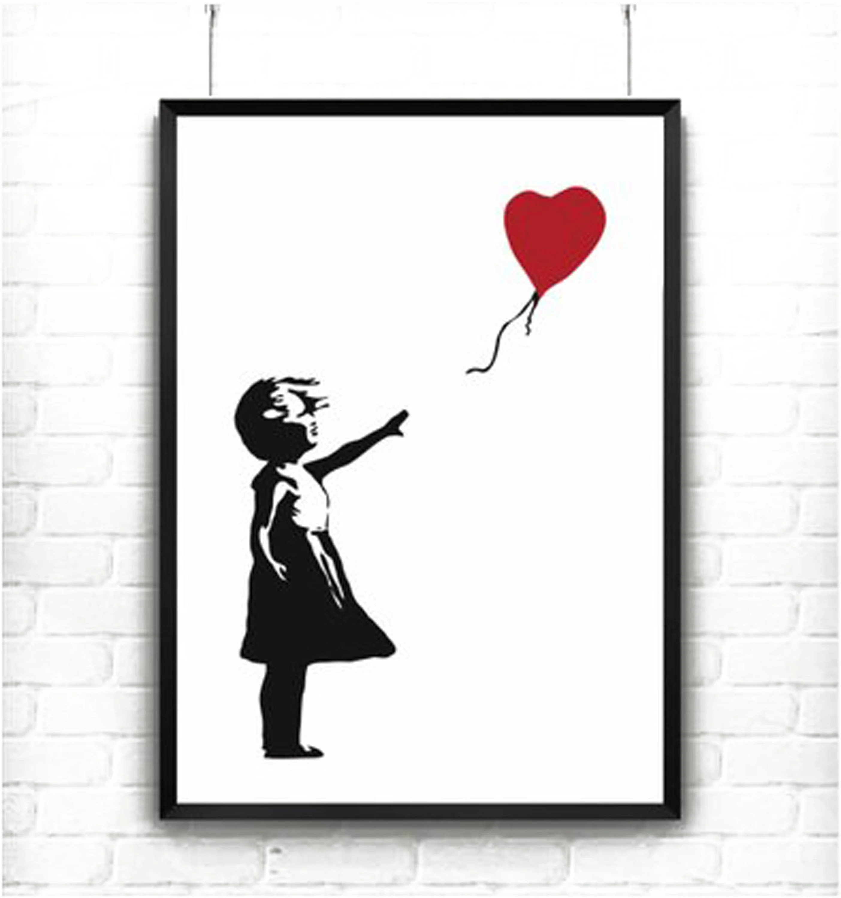 Girl With Balloon by Banksy Printable / up to A0 size / Etsy