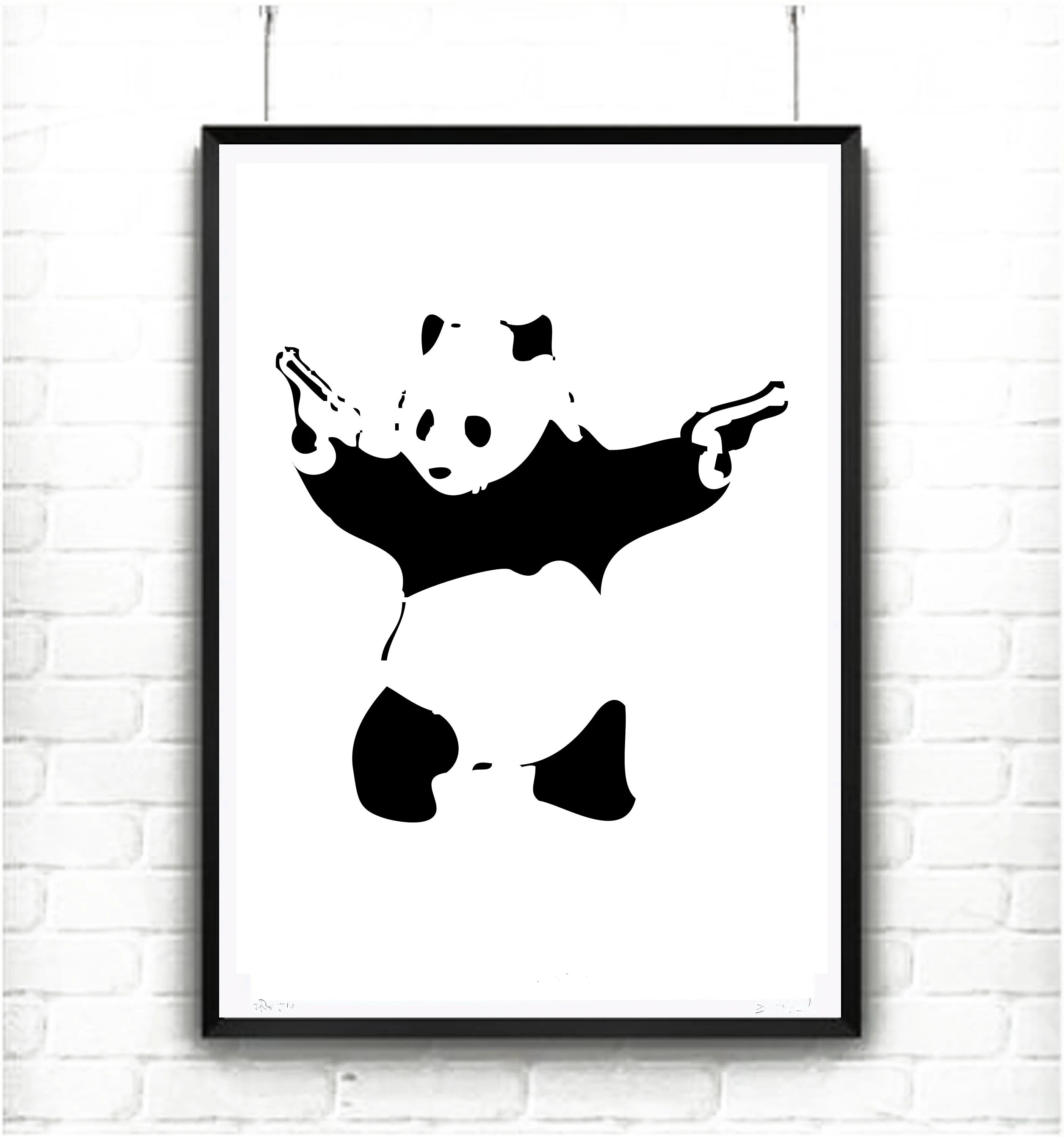 Banksy Panda with guns Printable wall art INSTANT DOWNLOAD Etsy