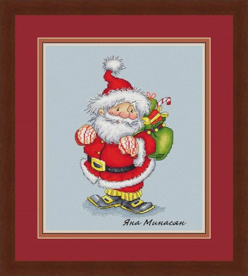 Cross Stitch Pattern Santa Claus Christmas DMC Cross Stitch Etsy