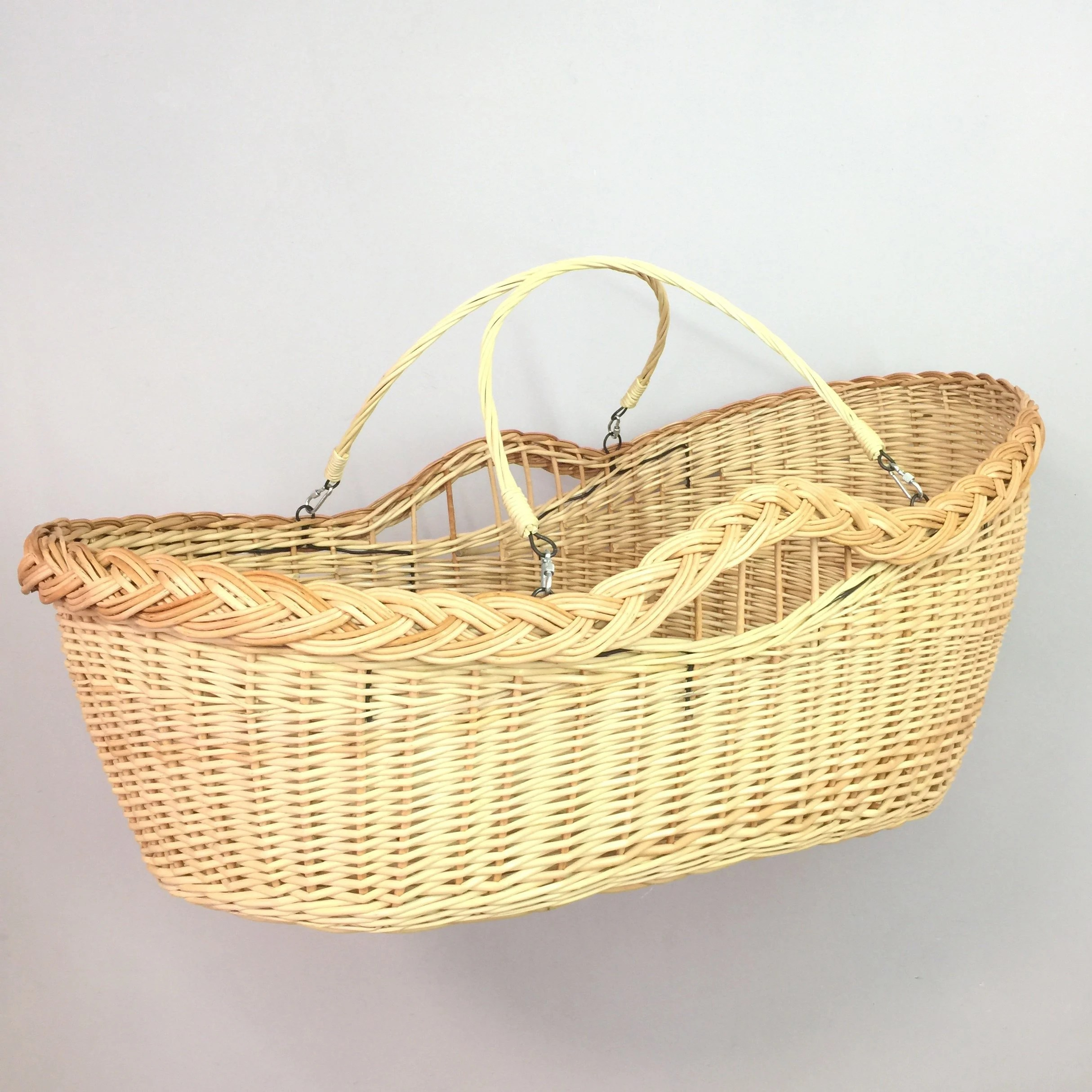 Baby Bassinet Moses Basket Wicker Cradle With Handles Moses Basket Baby Bassinet