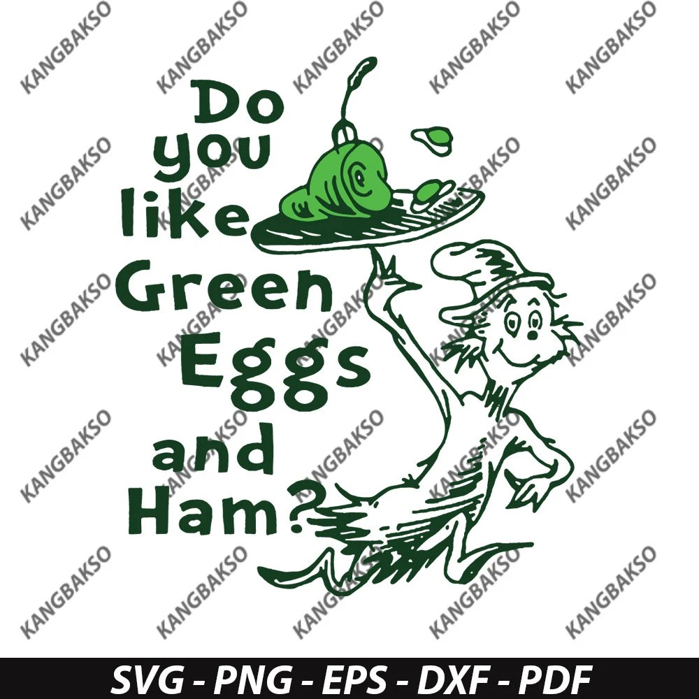 Do You Like Green Eggs And Ham svg svg for silhouette svg Etsy