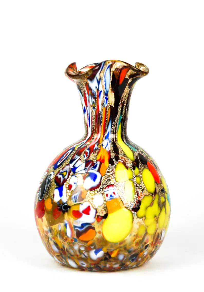 Vase De Murano Murano Glass Vase Murano Vases Gift Idea Murano Glass Sculpture Murano Vase Made Murano Glass
