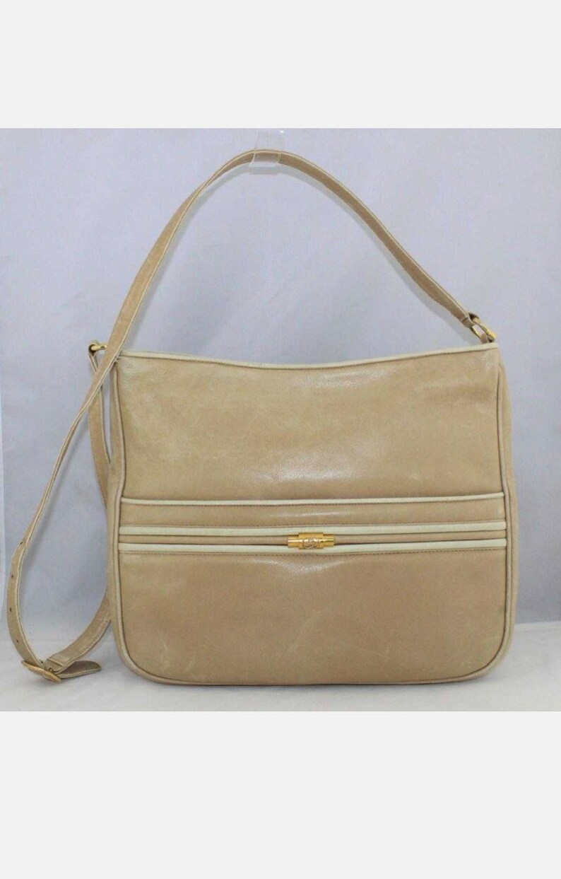 Etsy Vintage Gucci Vintage Gucci Tan Soft Leather Shoulder Bag