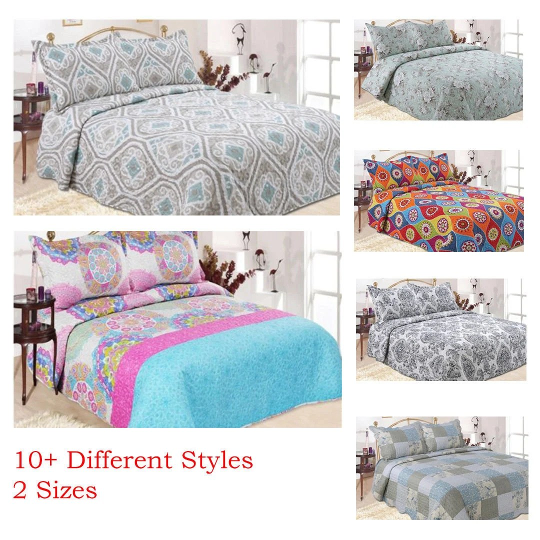 Single Coverlet Luxury Coverlet Bedspread Set Single Queen Size In 10 Different Styles