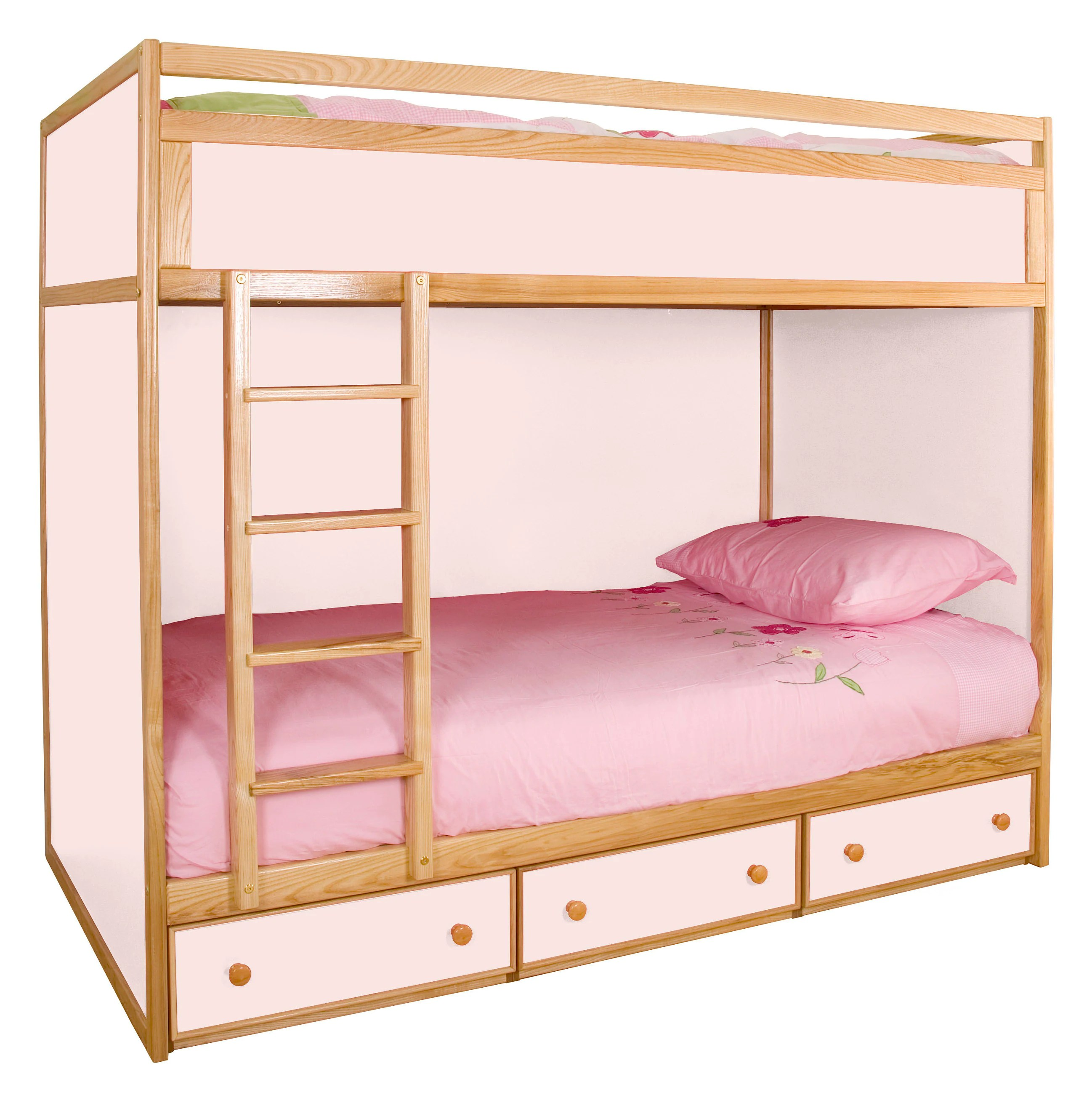 2ft 6 Cabin Bed Pink Bunk Bed Kids Bunk Bed Bunk Bed With Drawers