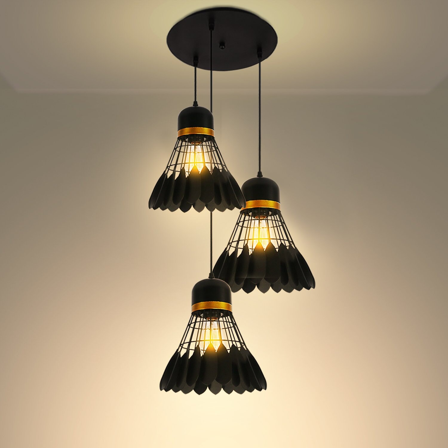Lampe Suspension Style Industriel Lampe Suspension De Style Industriel 3 Lumières Cuisine îlot