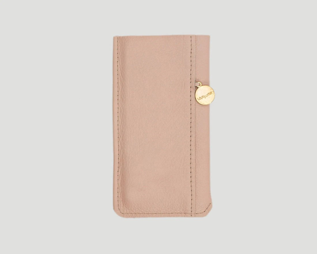 Handyhülle S6 Edge Leder Light Pink Leather Iphone Case For Iphone Xr Xs Max X Xs 8 8plus 7 7plus 6 6plus 5 5plus And Se With Logo Detail And Asymetric Seam