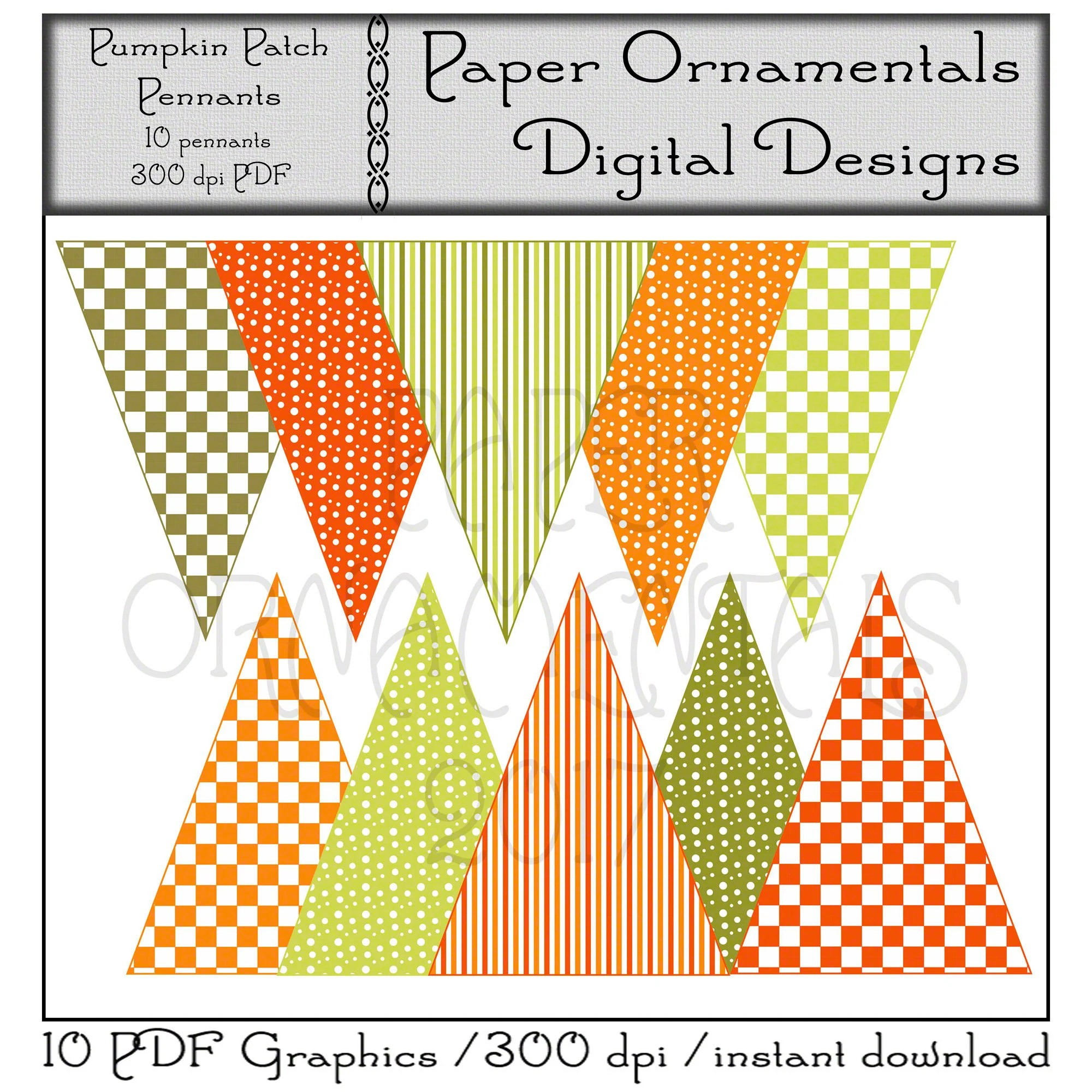 Printable Pennant Banner Instant Download Cute Fall Digital Etsy