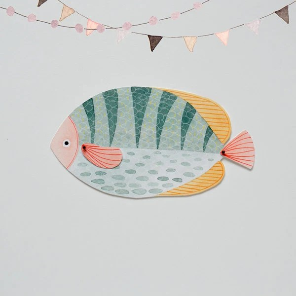 Fish Articulated Paper Doll Printable Instant Download PDF Etsy