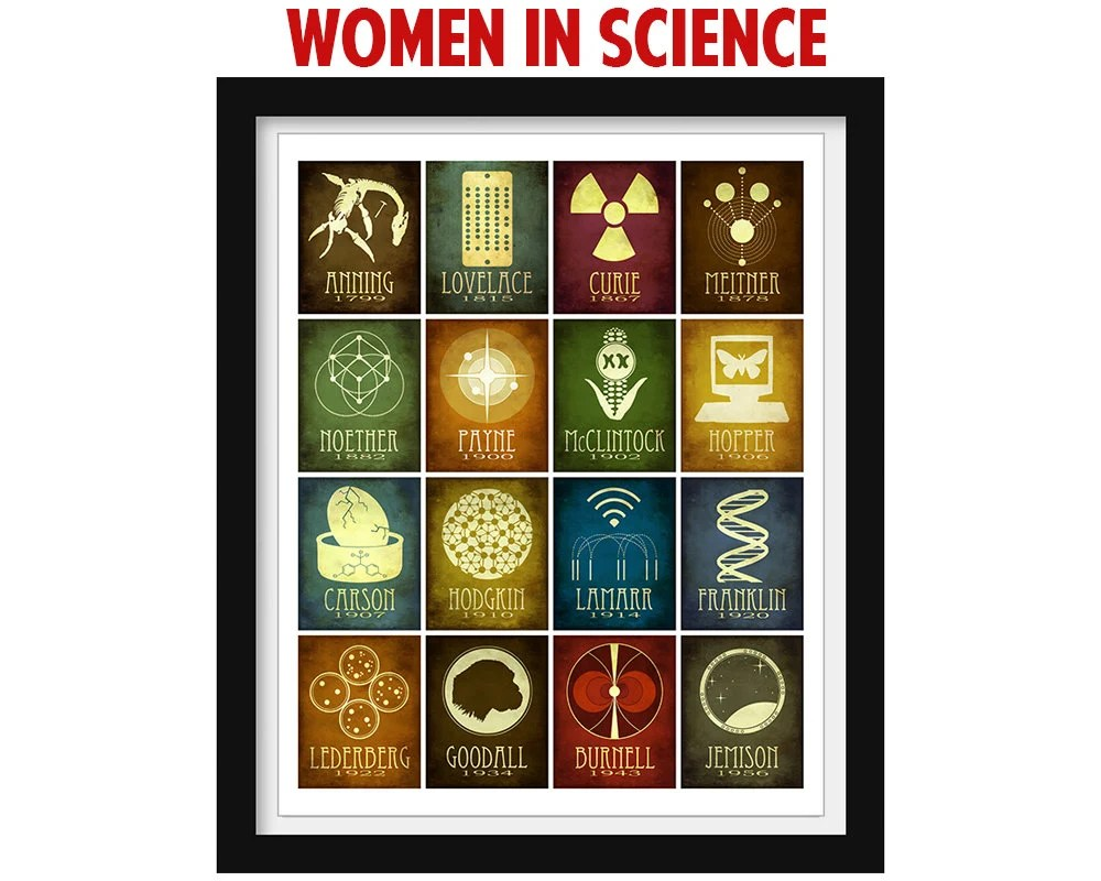 Women In Science Wall Art Science Poster Classroom Decor Etsy