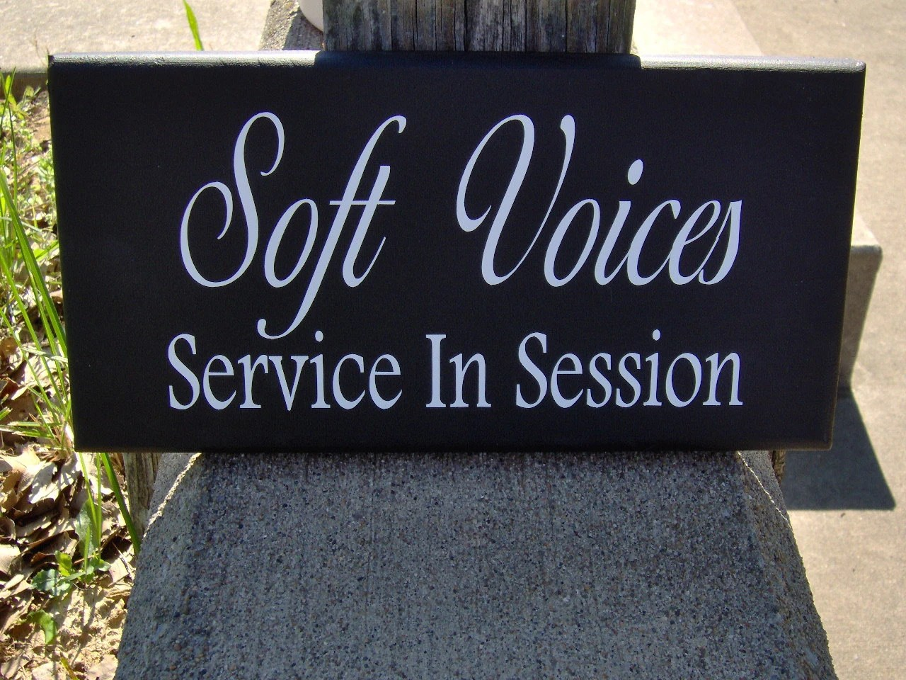 Signs Soft Voices Service In Session Wood Vinyl Home Business Etsy
