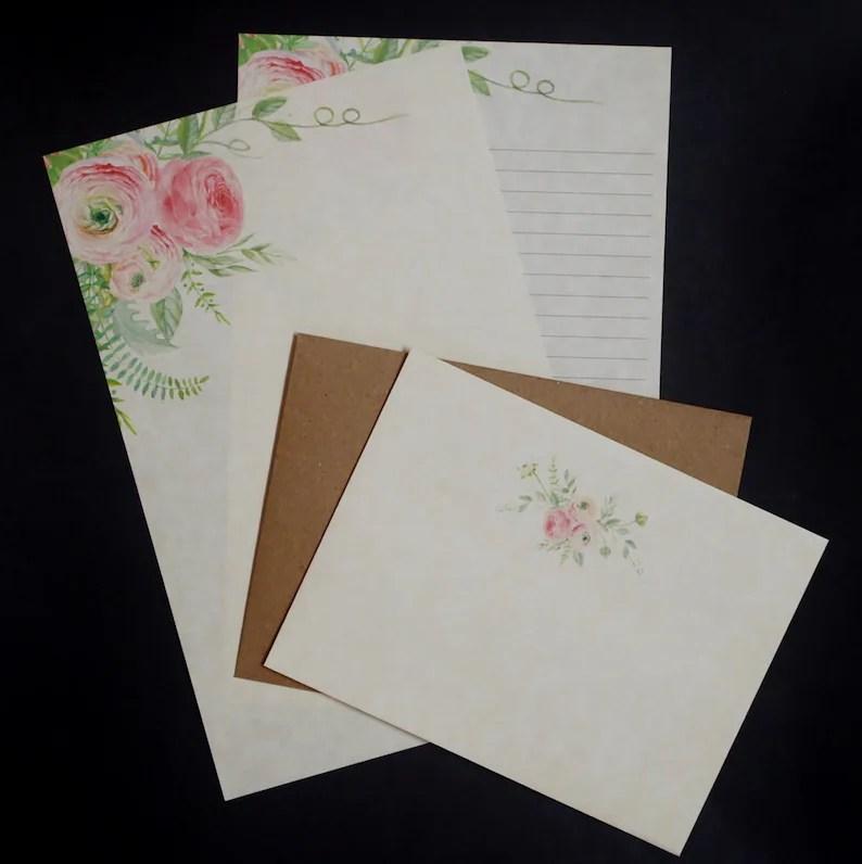 Pink Trio social stationery set letter writing set pen pal Etsy