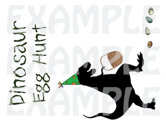 PDF Dinosaur Egg Hunt Party Sign - Digital File DIY Printable by