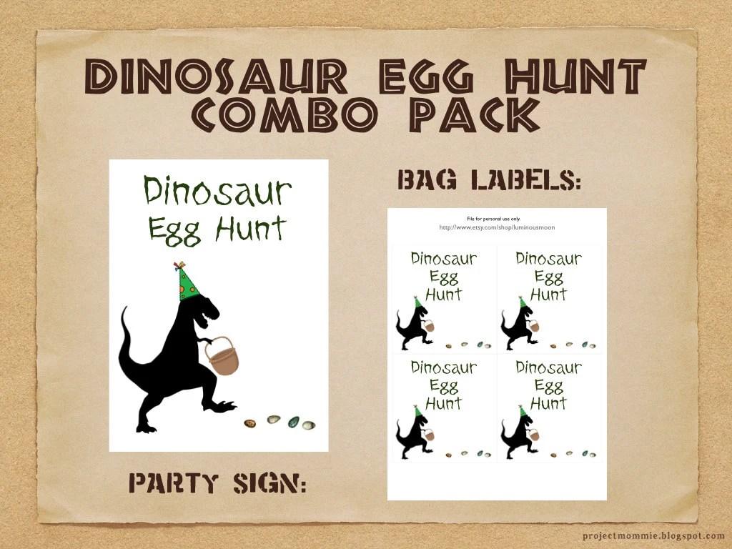 PDF Dinosaur Egg Hunt Combo Pack Party Sign and Bag Labels Etsy