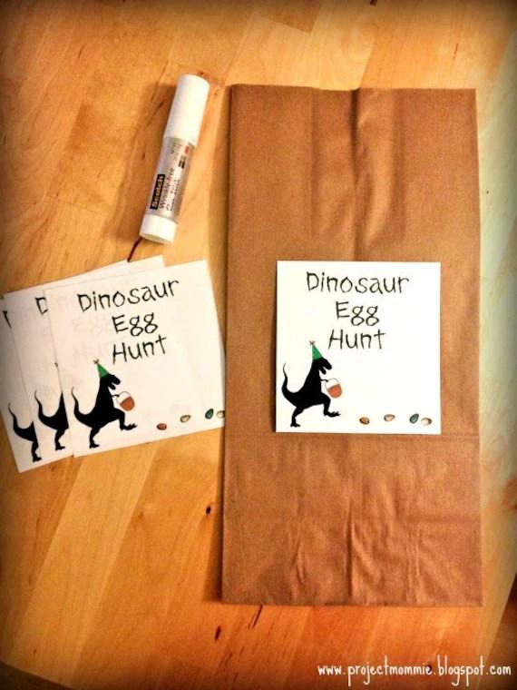 PDF Dinosaur Egg Hunt Labels - Digital File DIY Printable - Fits