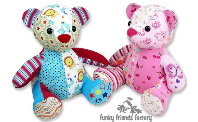 Melody Memory Bear Keepsake Toy Instant Download Sewing Etsy