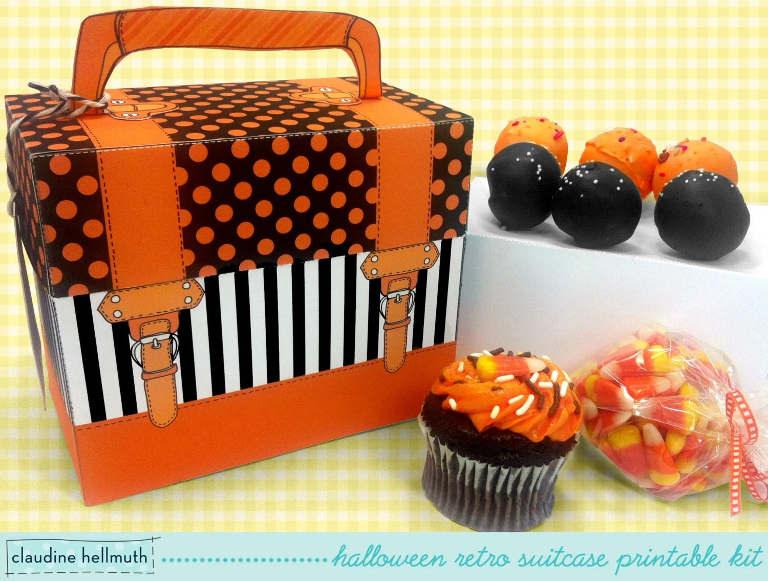 halloween cake pop and cupcake box - holds cookies, candy, party