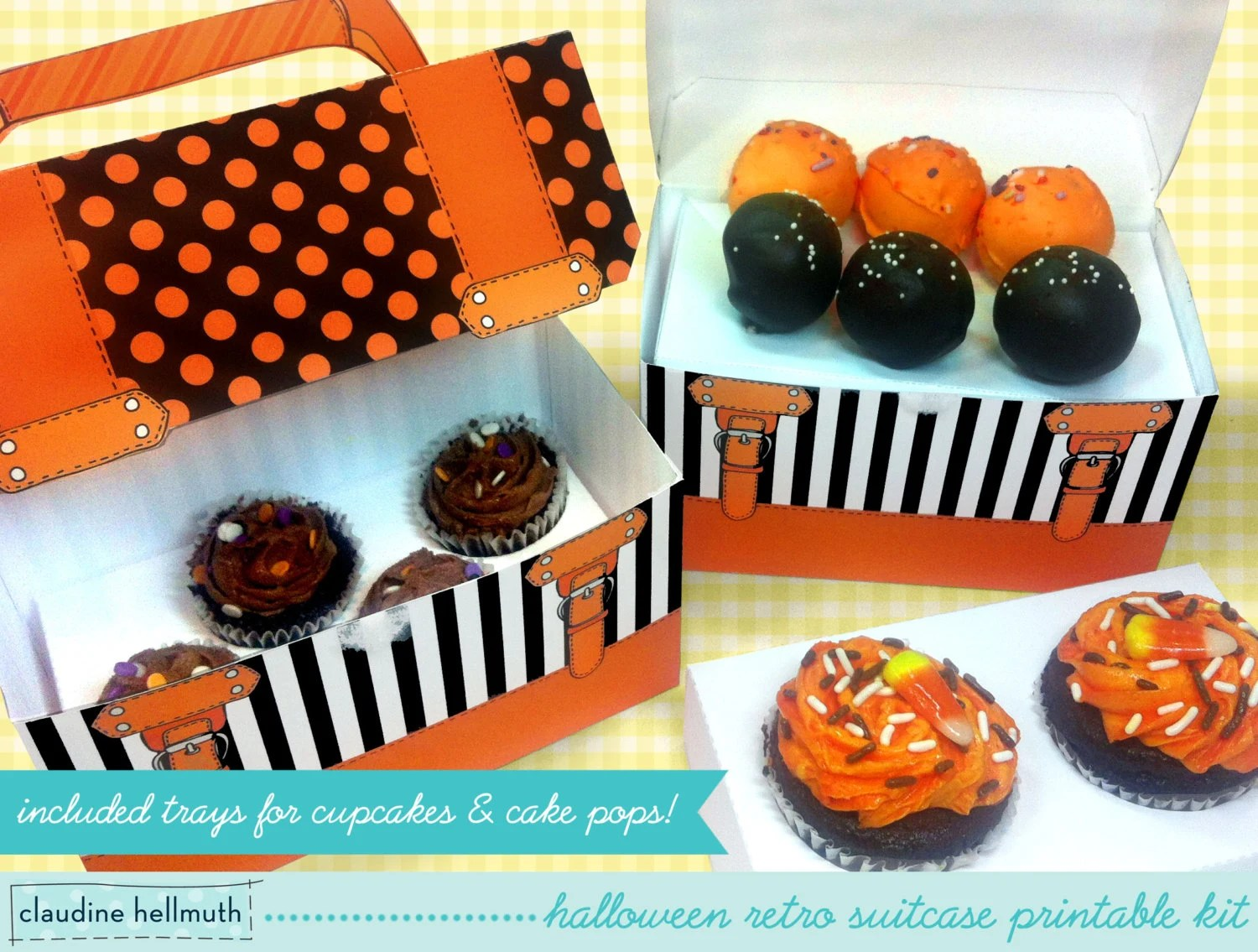 Halloween cake pop and cupcake box holds cookies candy Etsy