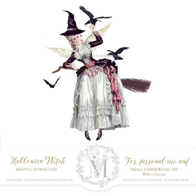 Halloween witch, Halloween printable, Digital download, Halloween