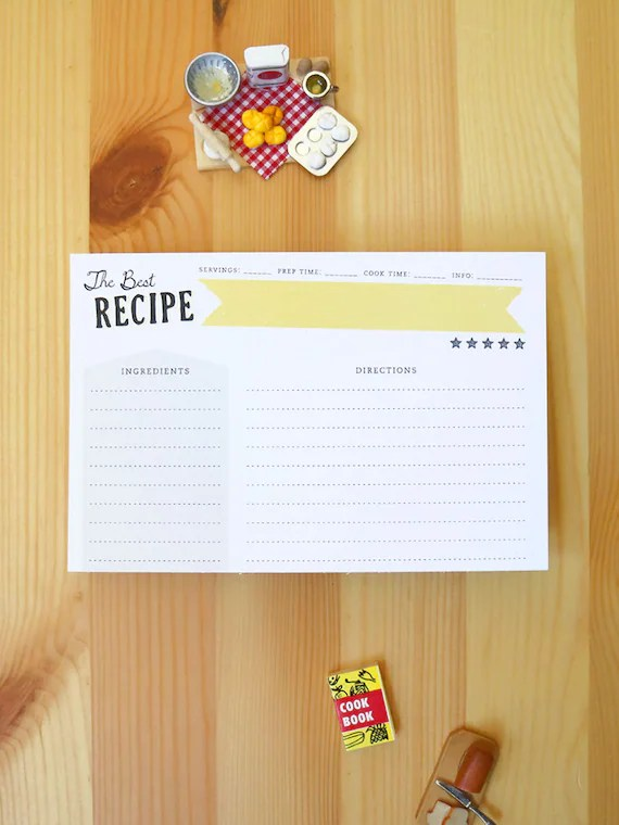 Set of 12 of The Best Recipe Double-Sided Recipe Cards 100 - double recipe cards