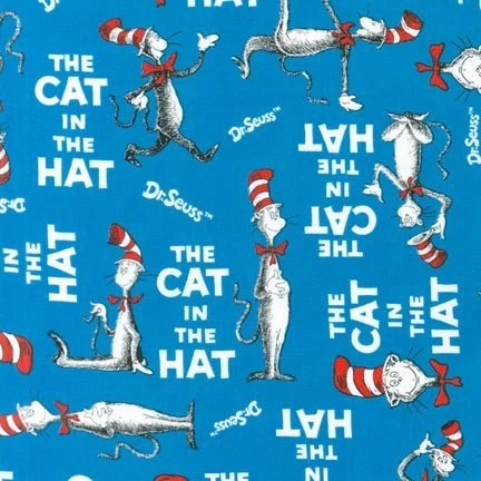 The Cat in The Hat by Dr Seuss from Robert Kaufman Book Cover Etsy