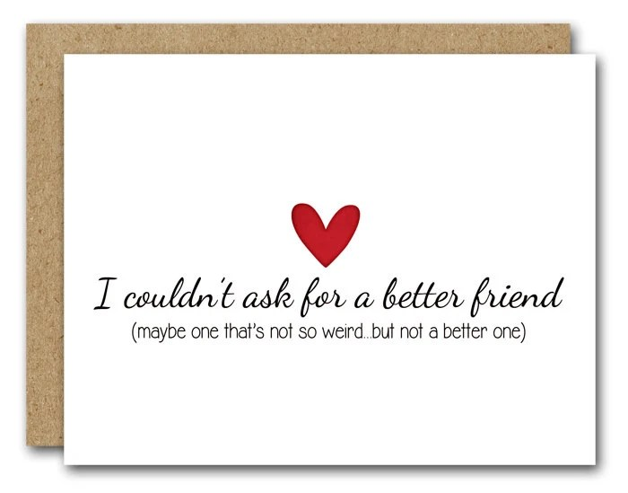 Funny Friend Card Funny Friendship Card INSTANT DOWNLOAD Etsy